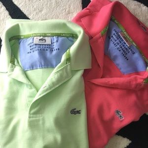Lacoste polo short sleeves shirts.